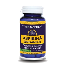 Aspirina Organica (30 cps.) - calmeaza durerea si reduce febra