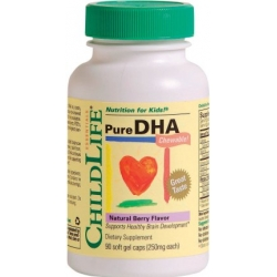 Pure DHA  90 Capsule gelatinoase moi, cu gust fructat